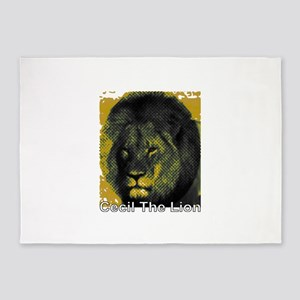 Tribute To Cecil The Lion 5'x7'Area Rug