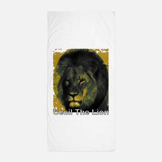 Tribute To Cecil The Lion Beach Towel