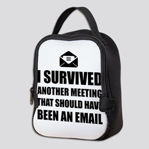 Meeting Email Neoprene Lunch Bag