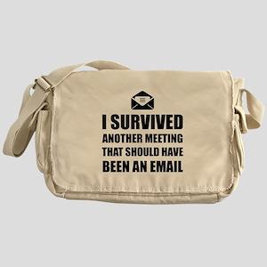 Meeting Email Messenger Bag