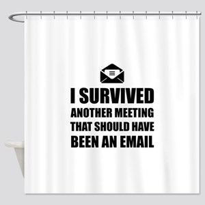 Meeting Email Shower Curtain