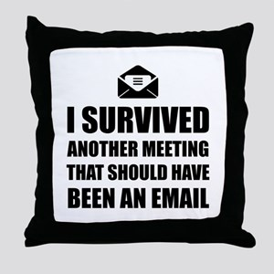 Meeting Email Throw Pillow