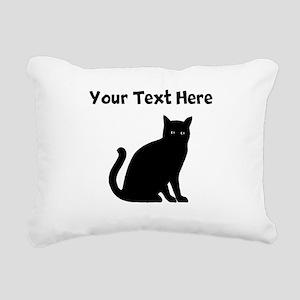 Cat Silhouette Rectangular Canvas Pillow