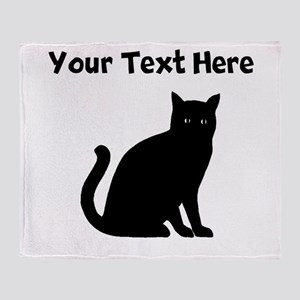 Cat Silhouette Throw Blanket