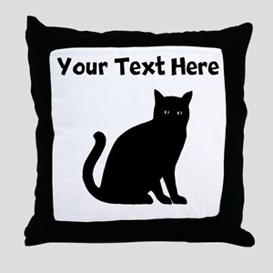 Cat Silhouette Throw Pillow