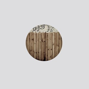 shabby chic lace barn wood Mini Button