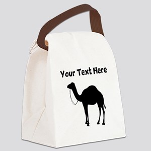Camel Silhouette Canvas Lunch Bag