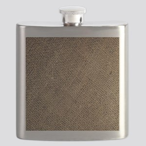 shabby chic country burlap Flask