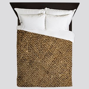 shabby chic country burlap Queen Duvet