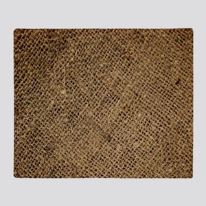 shabby chic country burlap Throw Blanket