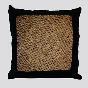 shabby chic country burlap Throw Pillow