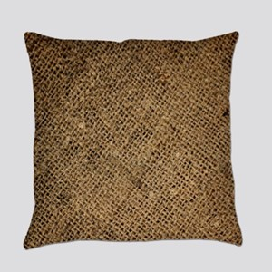 shabby chic country burlap Everyday Pillow
