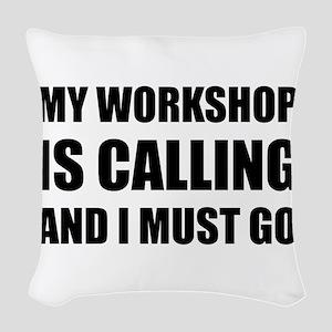 Workshop Calling Woven Throw Pillow