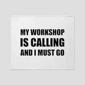 Workshop Calling Throw Blanket