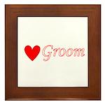 Groom Framed Tile