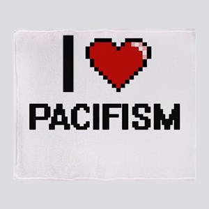 I Love Pacifism Throw Blanket