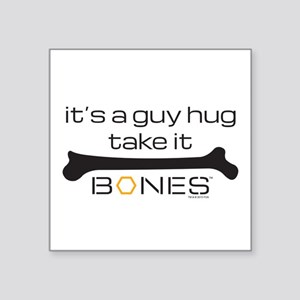 "Bones Guy Hug Square Sticker 3"" x 3"""