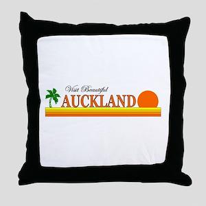 Visit Beautiful Auckland, Aus Throw Pillow