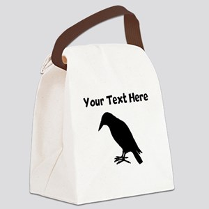 Crow Silhouette Canvas Lunch Bag