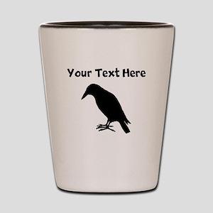 Crow Silhouette Shot Glass