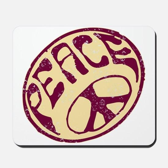 Distressed Peace Symbol #V12 Mousepad
