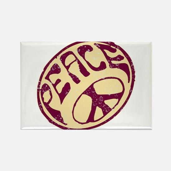 Distressed Peace Symbol #V12 Rectangle Magnet