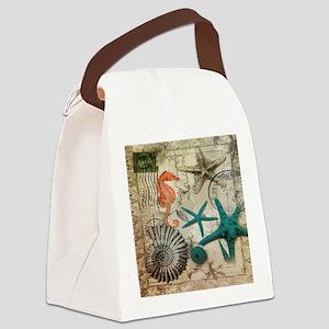 french beach sea shells Canvas Lunch Bag