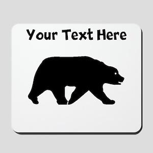 Bear Walking Silhouette Mousepad