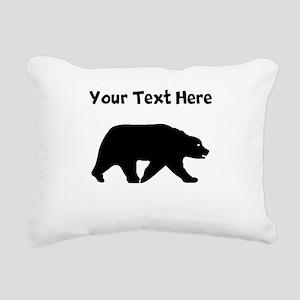 Bear Walking Silhouette Rectangular Canvas Pillow