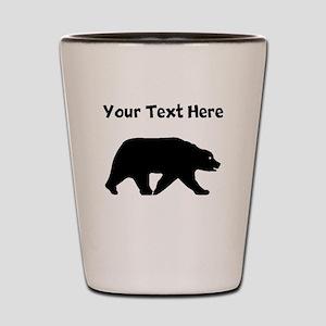 Bear Walking Silhouette Shot Glass