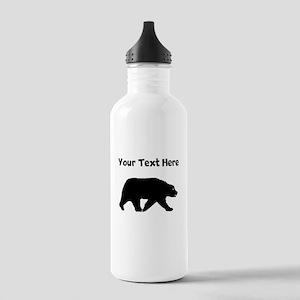 Bear Walking Silhouette Water Bottle
