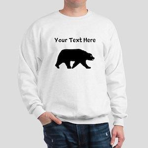 Bear Walking Silhouette Sweatshirt