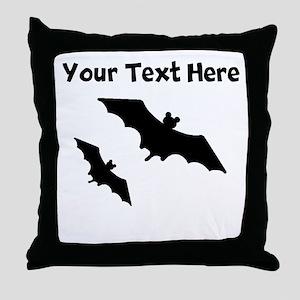 Bats Silhouette Throw Pillow