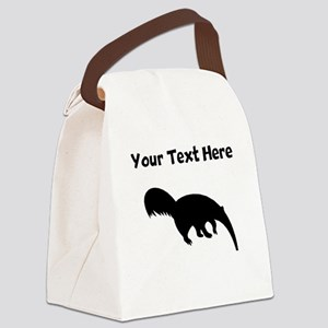 Anteater Silhouette Canvas Lunch Bag
