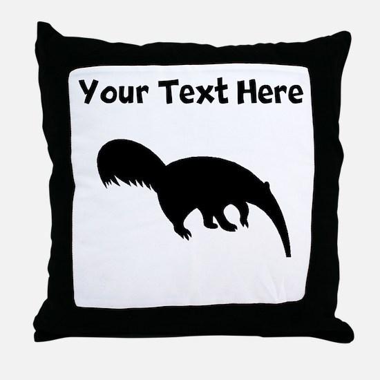 Anteater Silhouette Throw Pillow