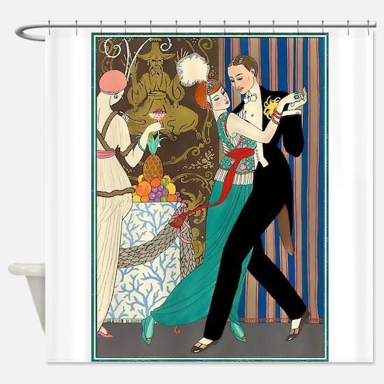 Barbier Tango Romance Shower Curtain