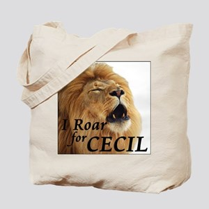 I Roar for Cecil Tote Bag