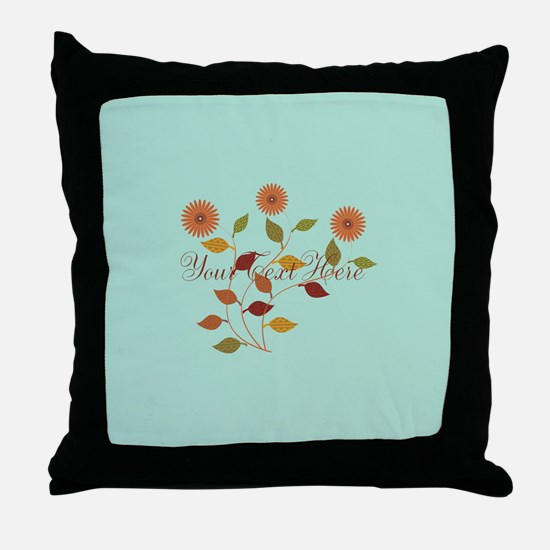 Fall Autumn Floral Throw Pillow