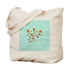 Fall Autumn Floral Tote Bag