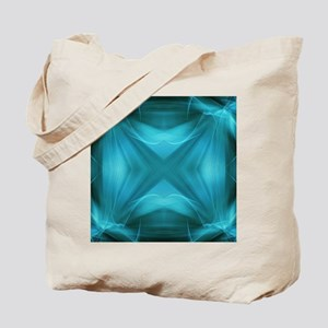 teal  geometric pattern ikat  Tote Bag