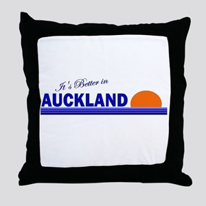 Its Better in Auckland, New Z Throw Pillow