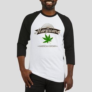 Smoking American Grown Marijuana Baseball Jersey