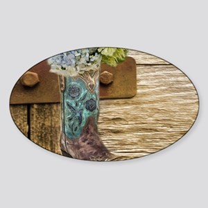 flower western country cowb Sticker