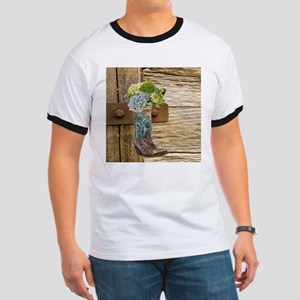 flower western country cowboy boots T-Shirt