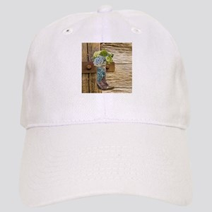 flower western country cowboy boots Cap