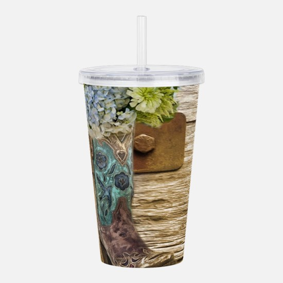 flower western country Acrylic Double-wall Tumbler
