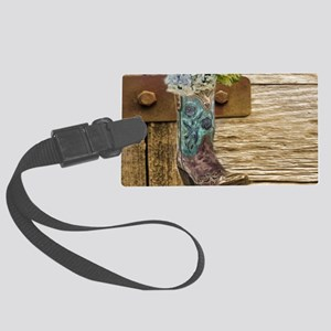 flower western country cowboy bo Large Luggage Tag
