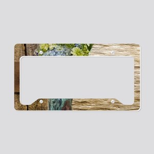 flower western country cowboy License Plate Holder
