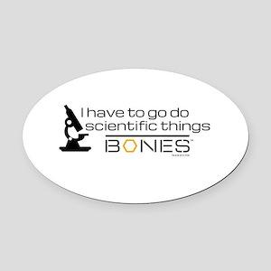 Bones Scientific Oval Car Magnet