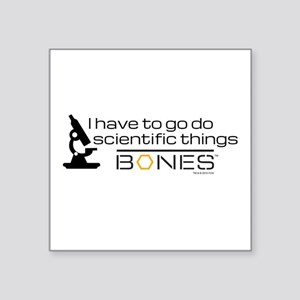 "Bones Scientific Square Sticker 3"" x 3"""